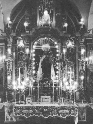 Retablo antiguo de la Virgen del Carmen de San Fernando