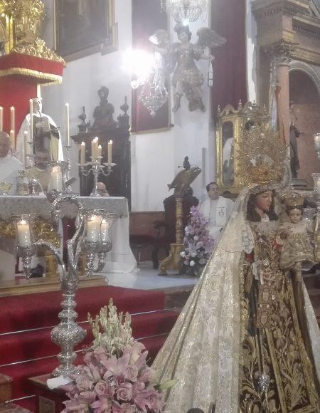 Besamano a la Virgen del Carmen. 16 de julio de 2017