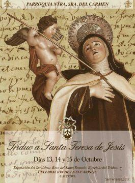 Triduo a Santa Teresa de Jesús los días 13, 14 y 15 de octubre