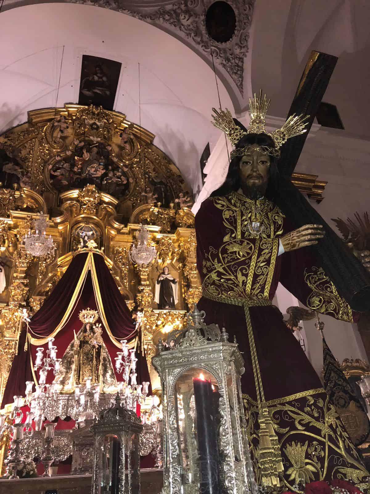 La imagen de Jesús Nazareno llegó al Carmen ayer domingo