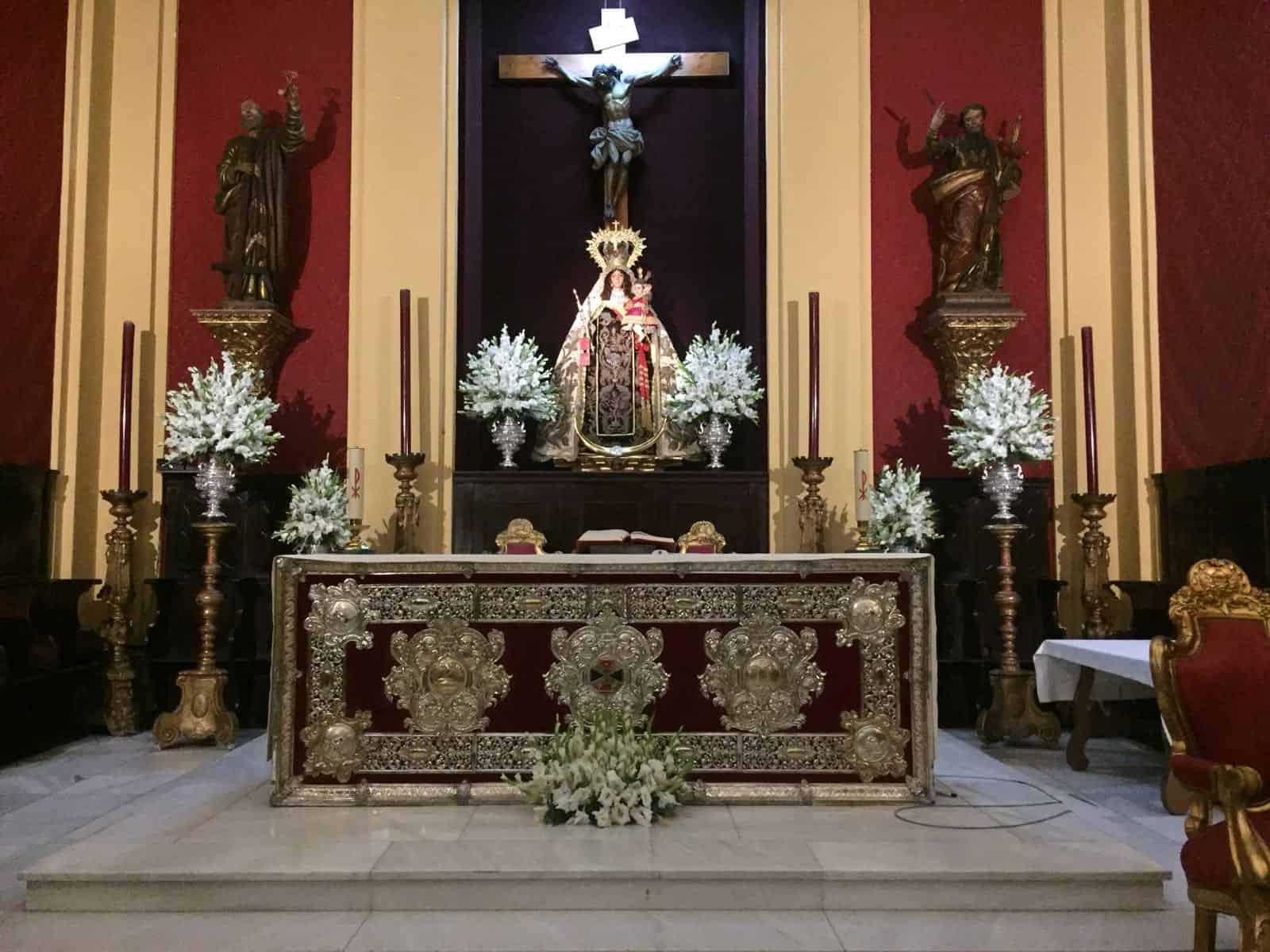 La Virgen del Carmen estará en la Iglesia Mayor hasta el domingo