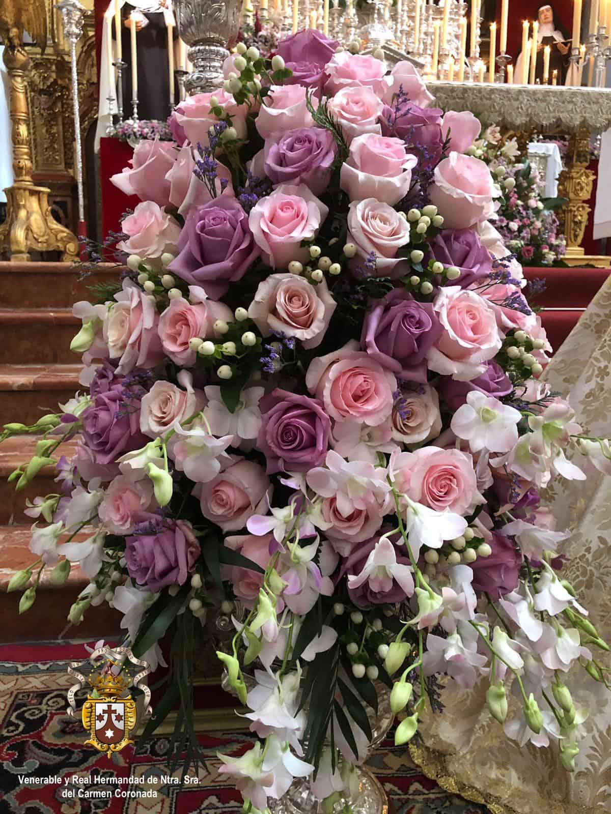 Exorno floral de la Patrona para el día de su festividad