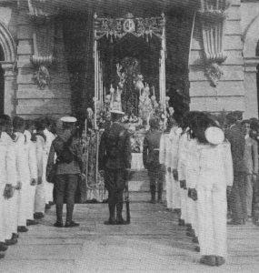 Virgen del Carmen en atrio Ayto 1921