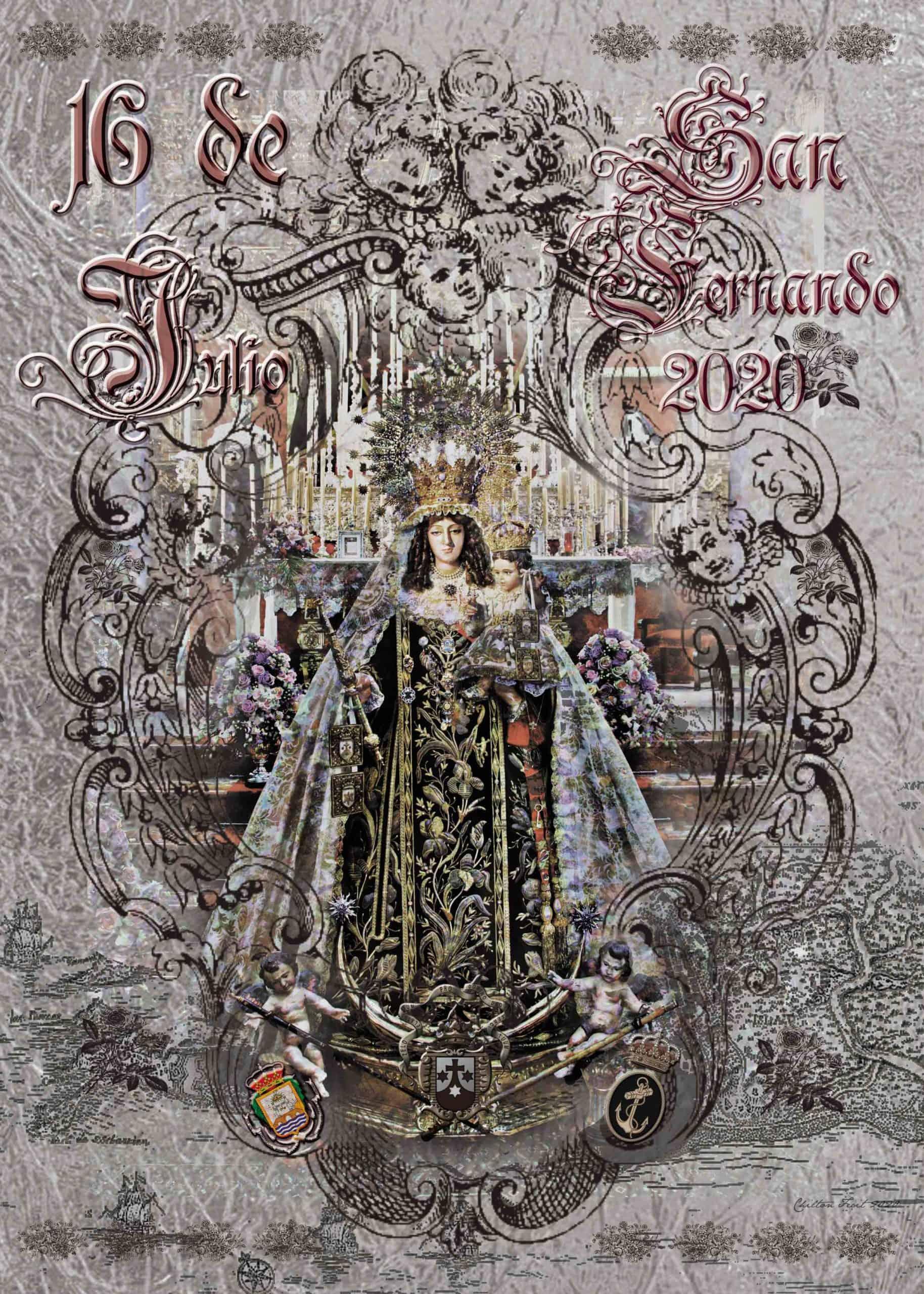 Cartel anunciador de la Festividad de Nuestra Señora del Carmen